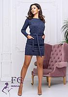 Платье с длинным рукавом батал размер 50-52