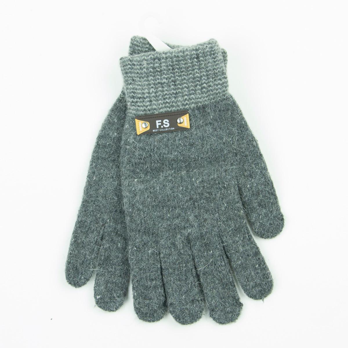 Подростковые демисезонные перчатки для мальчиков от 15 лет - 19-7-57 - Серый