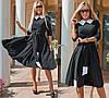 Элегантное платье, с расклешенной юбкой, в комплекте пояс рукав три четверт / 4 цвета 410-159, фото 2