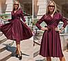 Платье миди, с расклешенной .юбкой, длинный рукав, в комплекте пояс / 3 цвета 416-159, фото 2
