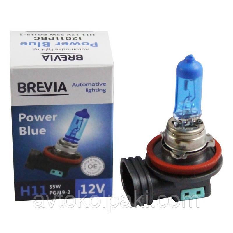 Галогенная авто лампа BREVIA H11 12V 55W PGJ19-2 Power Blue 4200K CP