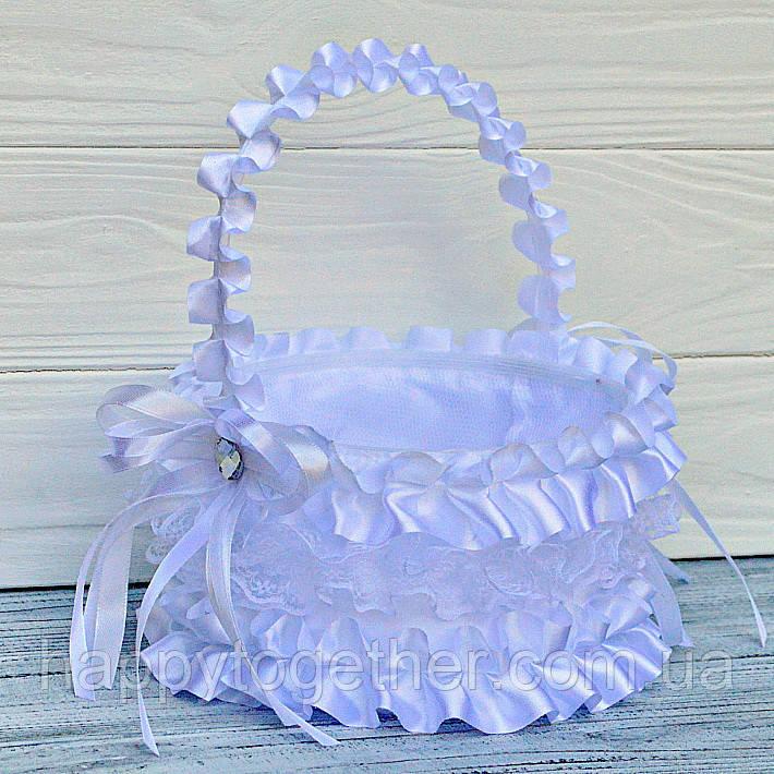 Свадебная корзинка белая