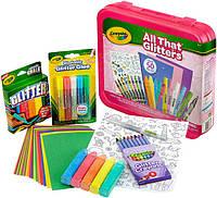 Crayola Набор для творчества в кейсе блестящий All That Glitters, фото 1