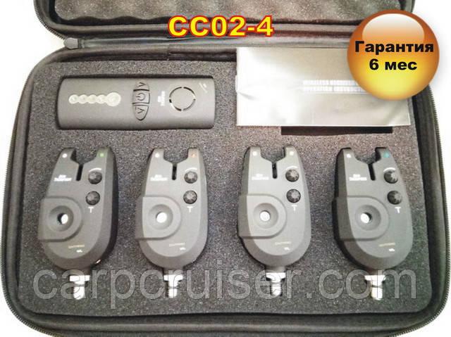 CC02-4 Набор Сигнализаторов Поклевки (4+1) с беспроводным пейджером
