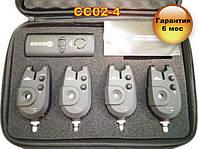 CC02-4 Набор Сигнализаторов Поклевки (4+1) с беспроводным пейджером, фото 1