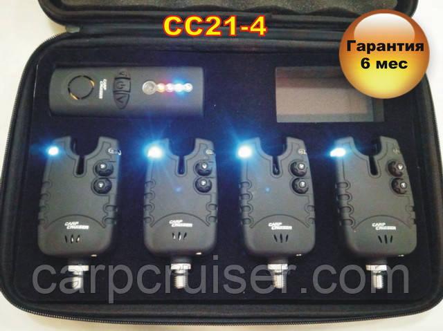 CarpCruiser СС21-4 набір електронних сигналізаторів покльовки (4+1) з бездротовим пейджером