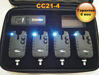 CarpCruiser СС21-4 набір електронних сигналізаторів покльовки (4+1) з бездротовим пейджером, фото 1