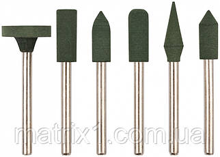 Насадки гумові полірувальні, дрібної зернистості, набір 6 шт. FIT