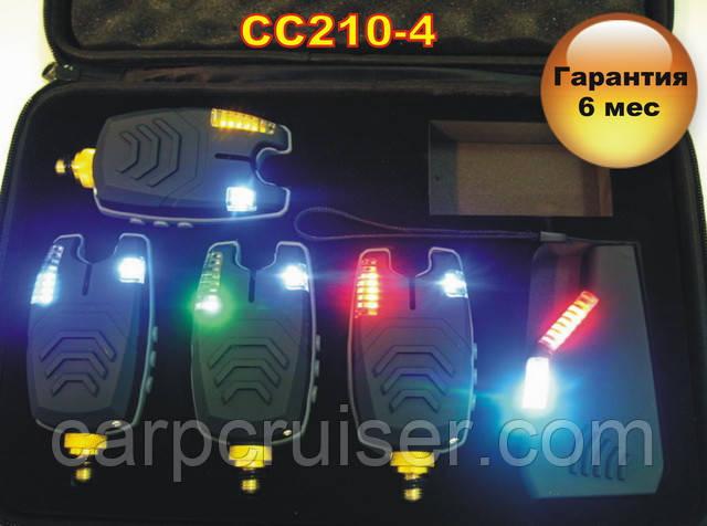Набор cигнализаторов поклевки CarpCruiser  CC210-4 (4+1) с беспроводным радио пейджером продажа в Украине