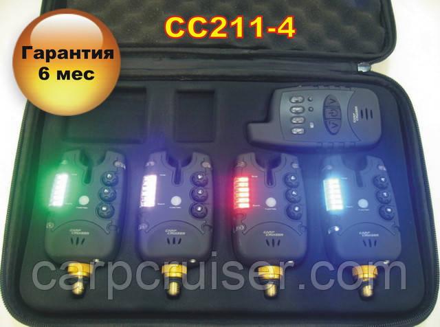 Набір сигналізаторів покльовки CarpCruiser CC211-4 (4+1) з бездротовим радіо пейджером