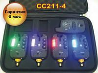 Набір сигналізаторів покльовки CarpCruiser CC211-4 (4+1) з бездротовим радіо пейджером, фото 1