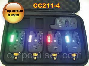 Набор cигнализаторов поклевки CarpCruiser CC211-4 (4+1) с беспроводным радио пейджером