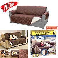 Покрывало на диван двустороннее Couch Coat, Коричневый, накидка на мебель