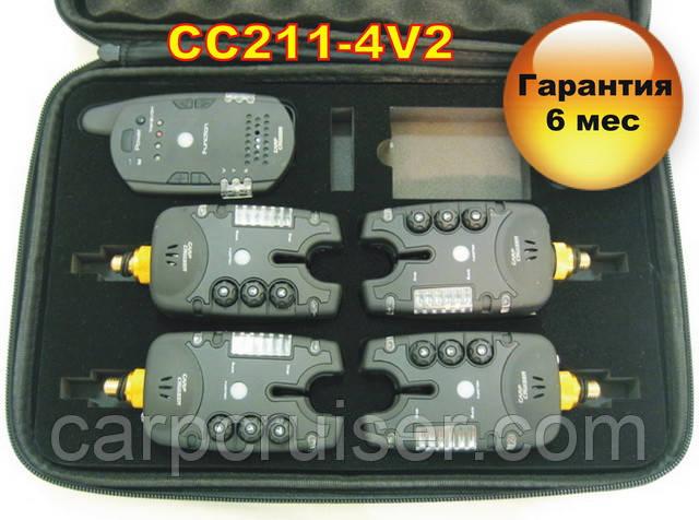 CarpCruiser СС211-4V2 Набор сигнализаторов поклевки (4+1) пейджер с 2-х сторонней связбю и системой анти вор