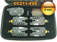 CarpCruiser СС211-4V2 Набор сигнализаторов поклевки (4+1) пейджер с 2-х сторонней связбю и системой анти вор, фото 1