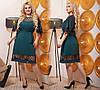 Платье  больших размеров от 50 до 60,  отделка сетка в горошек / 3 цвета 443-610, фото 3