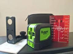 Лазерний рівень Huepar HP-9011R нівелір. 2 променя. Червоний + магнітний кронштейн, чохол, мішень.Київ.