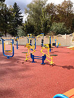 Послуга монтажу безшовного гумового покриття для дитячих та спортивних майданчиків