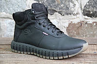 Мужские ботинки зимние из натуральной кожи и меха SART 726