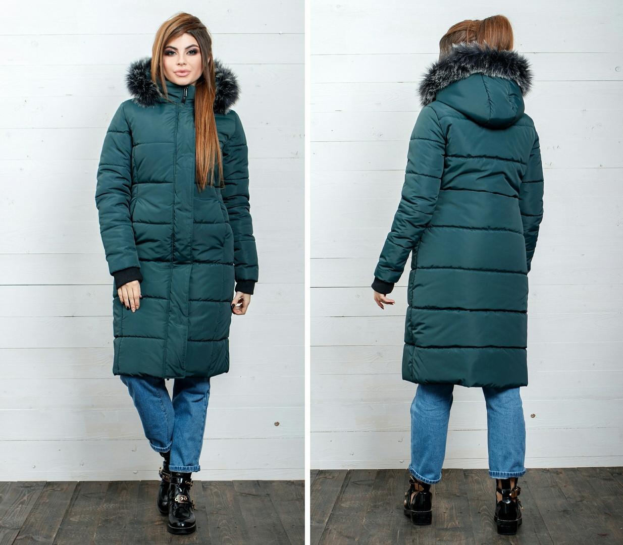 Куртка удлиненная Пальто мех