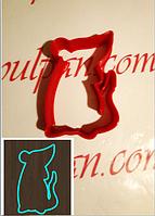 Вырубка Форма для пряника мастики мышка 6 см