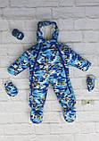КОМБИНЕЗОН-ТРАНСФОРМЕР С УШКАМИ ОТ 0-18 МЕС (ЗИМА) Ваш малыш в надежном комбинезоне!  Зимний комбинезон-трансф, фото 8