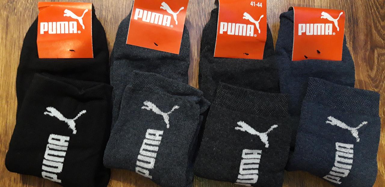 """Чоловічі махрові стрейчеві шкарпетки в стилі """"Puma""""(41-44)"""