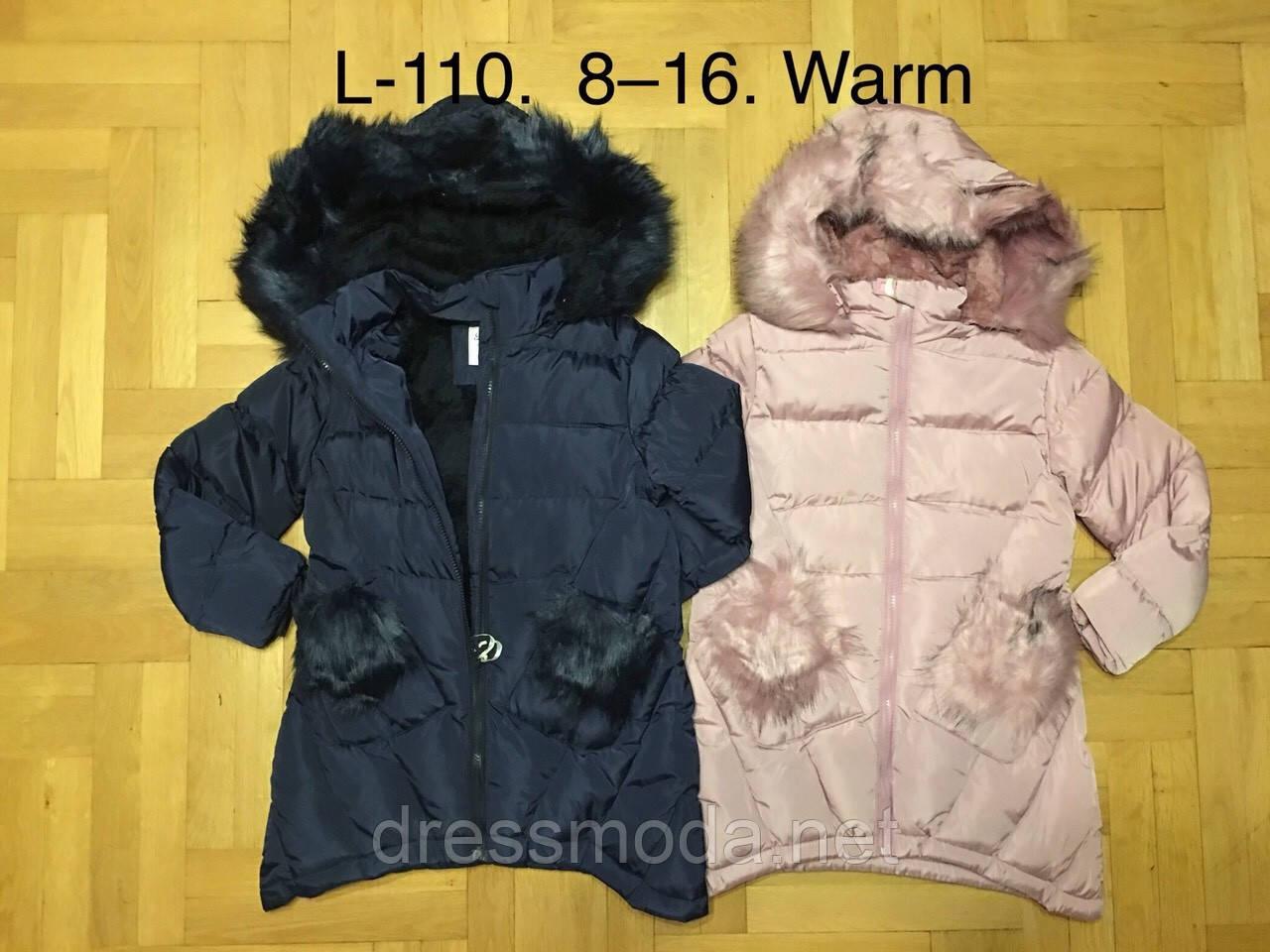Куртки зимние на меху для девочек F&D 8-16 лет