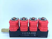 Форсунки Yota 4цил, 3 Ом со штуцерами калибр. и в коллектор