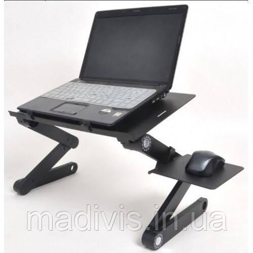 Столик трансформер для ноутбука Laptop Table T8 (с кулером)