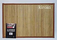 Бамбуковые подставки на стол (Обшитые края) 30х45 см (комплект 6 шт)