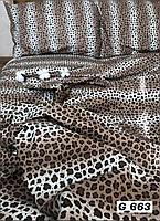 Двуспальное постельное бельё Голд Леопард