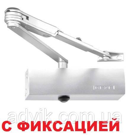Доводчик Geze TS 1500 с фиксацией (белый)