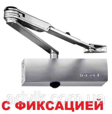 Доводчик Geze TS 1500 с фиксацией (серый)