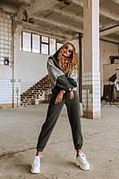 Женский теплый костюм графитового цвета, фото 1