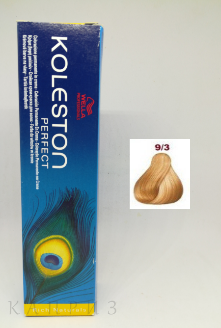 Крем-краска Wella Professionals Koleston Perfect 9/3, 60 мл