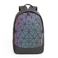 Рюкзак женский городской Bao Bao голографический светоотражающий (флуоресцентный) c треугольниками, фото 1