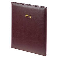 Еженедельник А4 датированный Brunnen 2020 Бюро Soft, 21 x 26 см, мягкая обложка, бордовый