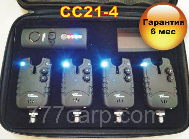 CarpCruiser FA21-4 набор электронных cигнализаторов поклевки (4+1) с беспроводным пейджером