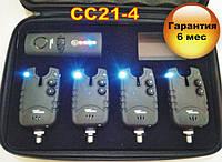 CarpCruiser FA21-4 набор электронных cигнализаторов поклевки (4+1) с беспроводным пейджером, фото 1