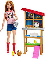 Игровой набор Barbie You can be Chicken Farmer Барби Куриный Фермер FXP15