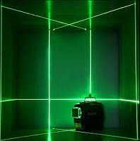 ✷ОТКАЛИБРОВАН✷НОВИНКА 2020✷ЗЕЛЁНЫЙ ЛУЧ 50м✷Лазерный ударопрочный нивелир DEKO 3D green, фото 1