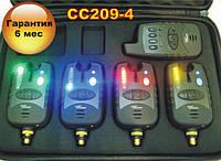 FA209-4 Набор Электронных Беспроводных Сигнализаторов Поклевки FA209-4 с радио пейджером, фото 1