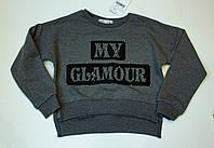 Модный топ  для девочки Гламур рост 128.140.152.164