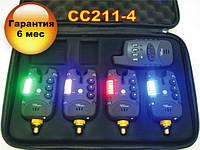 Набор Сигнализаторов Поклевки CarpCRUISER FA211-4 (4+1) с беспроводным радио пейджером продажа в Украине, фото 1