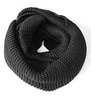 Шарф снуд (хомут), черного цвета