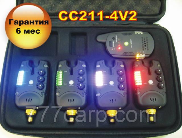 CarpCRUISER FA211-4V2 Набор Сигнализаторов Поклевки (4+1) с беспроводным пейджером и системой анти вор