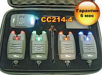 CarpСruiser FA214-4 Набор Электронных Беспроводных Сигнализаторов Поклевки с системой анти вор,радио пейджером, фото 1