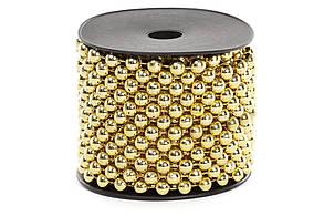 Бусы пластиковые, цвет - яркое золото, 8мм*10м BonaDi 147-030
