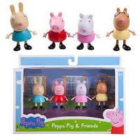 Набор Фигурок Свинка Пеппа, Друзья Свинки Пеппы, Peppa Pig 3 inch Figure 4 Pack - Friends
